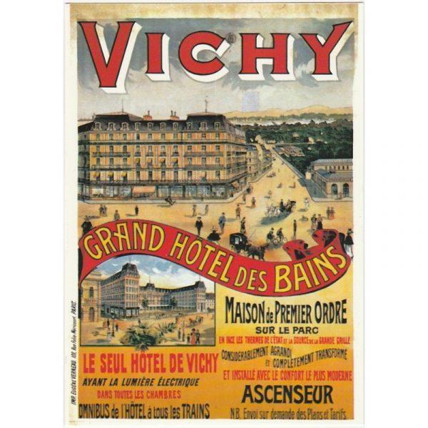 Carte postale du Grand Hôtel de Vichy.